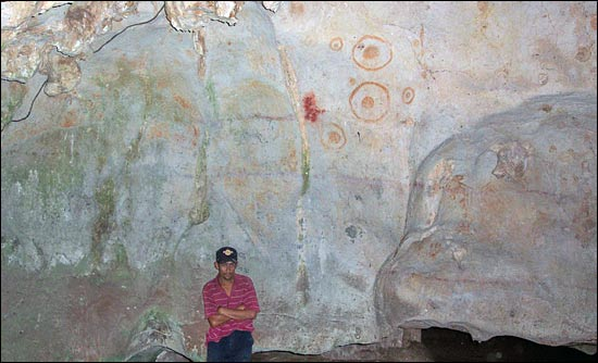 Cueva la Conga Interior with Cave Paintings